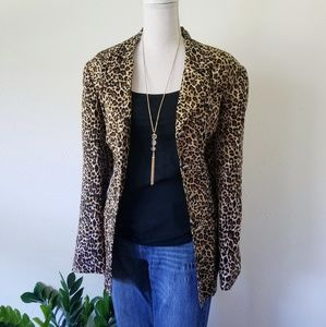 Corey B. Vintage Silk Cheetah Animal Print Blazer